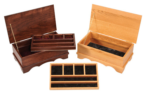 Jewelry Chests in Cherry and Oak